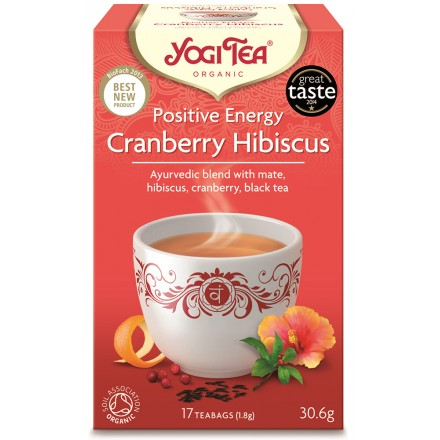 YOGI TEA CRANBERRY HIBISCUS ΒΙΟ 306ΓΡ