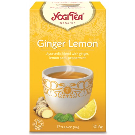YOGI TEA GINGER LEMON ΒΙΟ 306ΓΡ